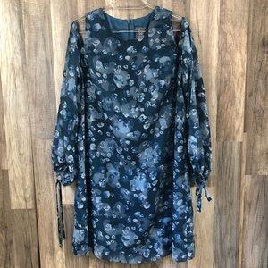 Vince Camuto Cold Shoulder Floral Dress